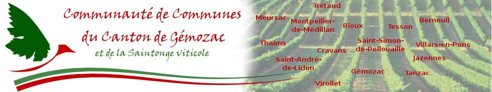 Le site de la Communauté de Communes du canton de  Gémozac